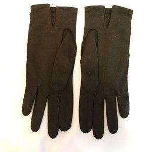 Vintage Evening Gloves - Black